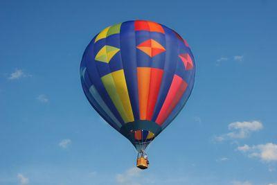 Colorful hotair balloon with blue sky