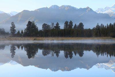 Reflection of Lake Matheson, NZ.