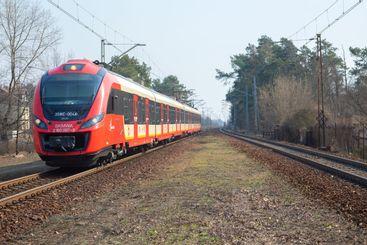Modern train in Warsaw, Poland