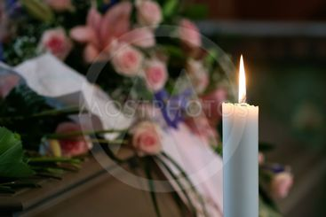 Candle in church