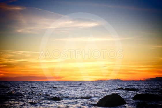 Sunset over Andamanhavet