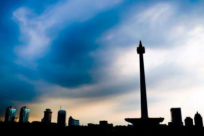 Jakarta National Monument skyline