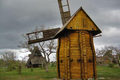 Old Swedish Wooden Windmill