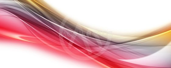 Abstract elegant wave panorama design with space for your...