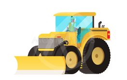 Yellow tractor. Agricultural transport. Big wheels....