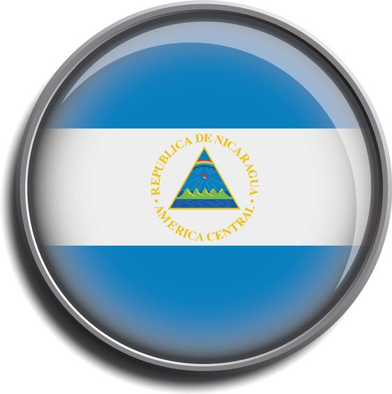 flag icon web button nicaragua
