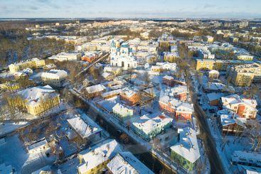 Gatchina (aerial photography). Leningrad region, Russia
