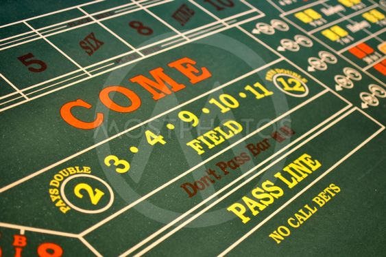 Craps Table located in a Casino