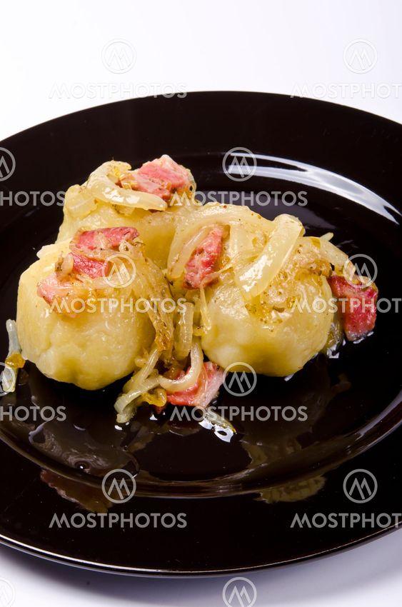 Potato dumplings with meat filling