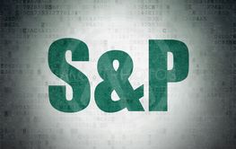 Stock market indexes concept: S&P on Digital Data Paper...