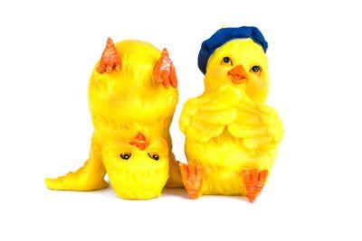 Två glada kycklingar
