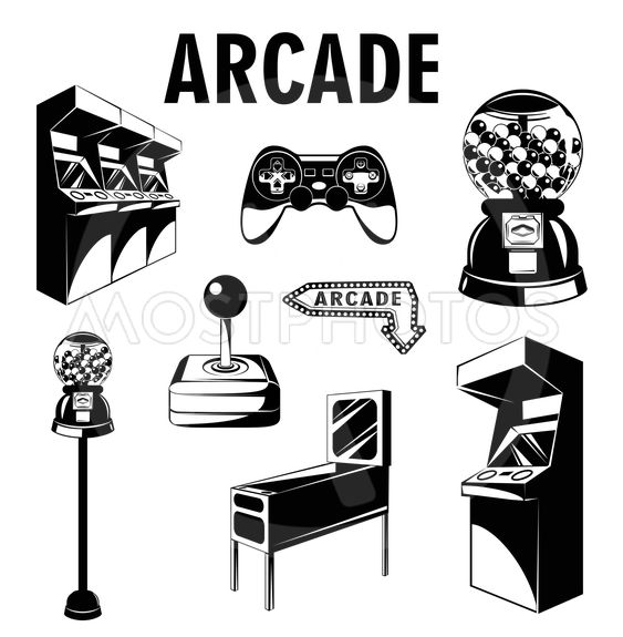 Elizaveta Khabarovan Kuva Arcade Room Video Game Set