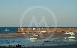 fishing boats in st pierre de Quiberon by sunset...