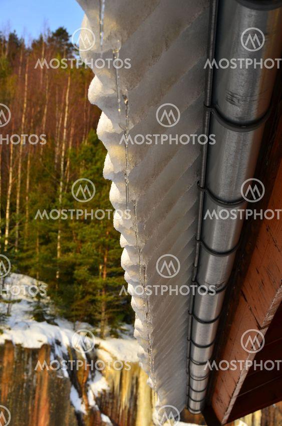 Tiili laatat lumi