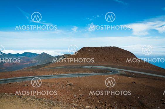 Road winding to the top of Haleakala