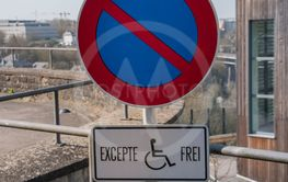 Car parking for people with disabilities. Disabled...