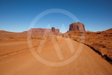 Dirt Road Through Monument Valley