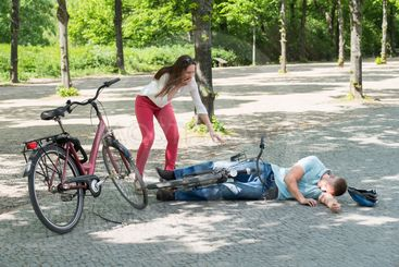 Man After Bicycle Accident