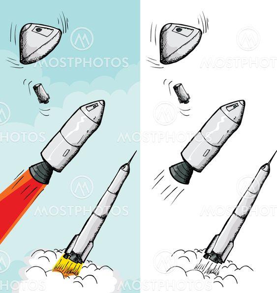 Bemannade Rocket steg