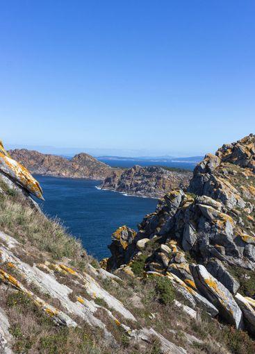 Paradise and mountainous island in the Atlantic ocean