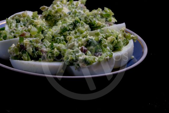 salad with egg and mayonnaise