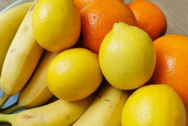 A colorful composition of fresh fruit