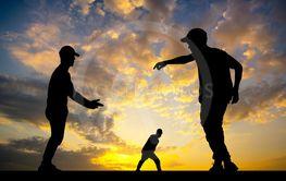breakdance performer at sunset