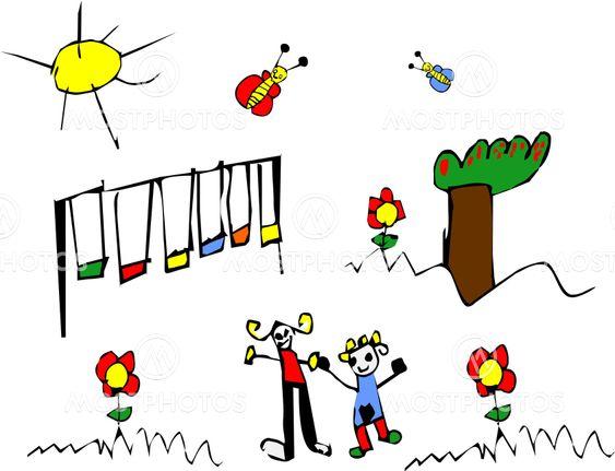 Foråret tid barn tegning
