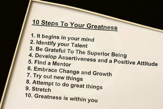 10 steps to your greatness