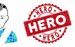 Mosaic Awarded Man with Textured Hero Seal