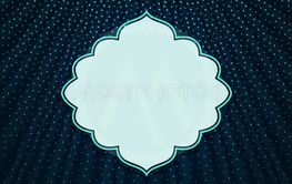 The frame on a blue textile background