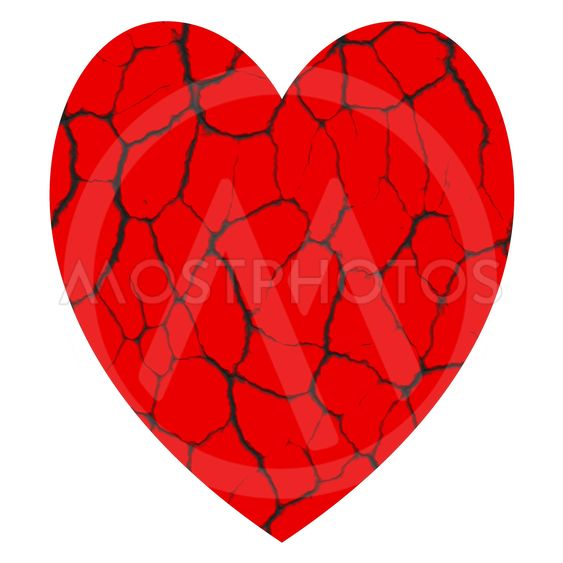 , Heart with cracks