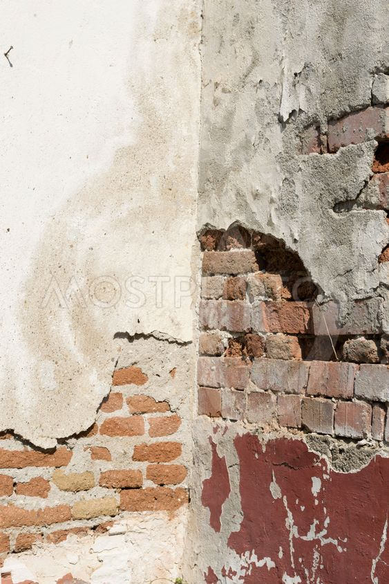 Wall damaged by dampness