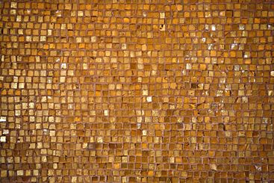 golden tiled floor