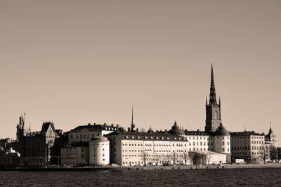 Stockholmsbild, svartvitt