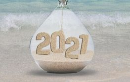 New Year 2021 sand timer