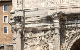 Septimius Severus Arch at Roman Forum in city of Rome