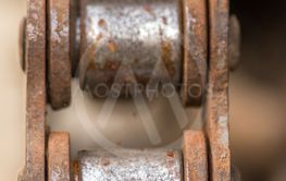 vintage rusty chain