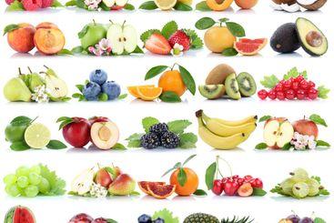 Fruits fruit collection orange apple apples banana...