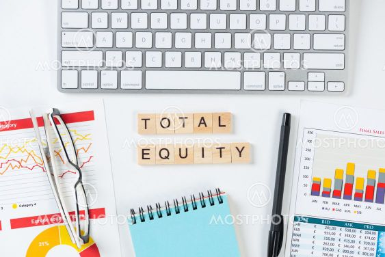 Total equity concept with letters