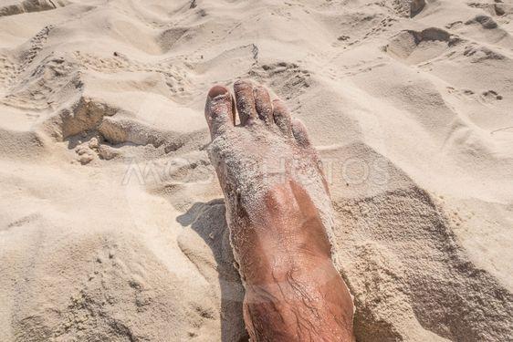 Fot i sand