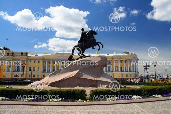 Peter 1 monument i Saint-Petersborg