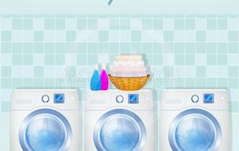 illustration of laundry service