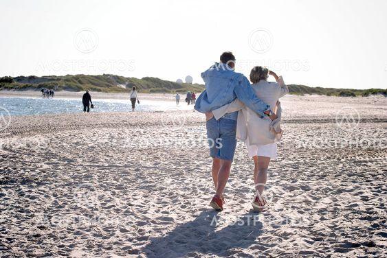 Romantik på Skagens strand