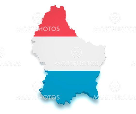Mmdesigner N Kuva Luxemburgin Kartta 3d Muoto Mostphotos