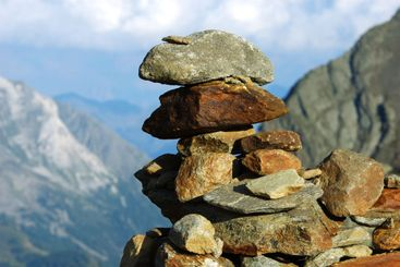 piled up stones