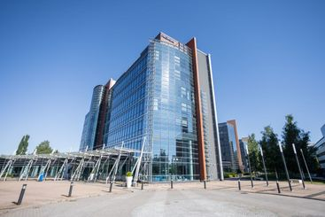 The main building in Nokia Corporation Campus in summer.