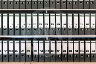 Binders with numbered folders in Dutch Veenhuizen prison...