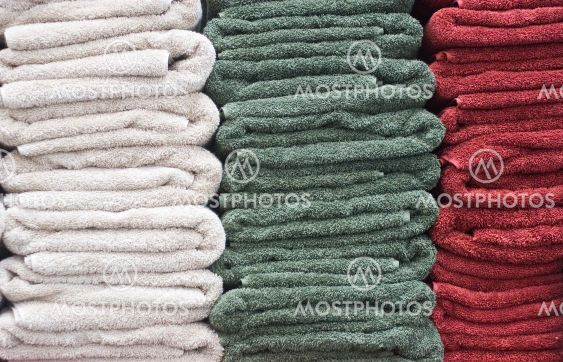 White Green and Red Towels