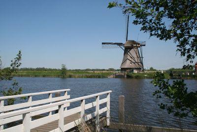Old Dutch windmill in Holland
